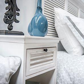 Table de chevet blanche en épicéa massif - Vénitiennes - Visuel n°6