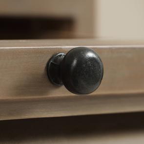 Table de chevet en épicéa brun fumé grisé - Vénitiennes