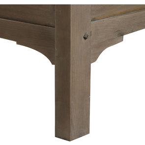 Lit 160x200 cm en épicéa massif brun fumé grisé – Vénitiennes - Visuel n°2
