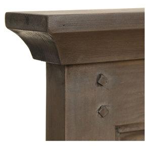 Lit 160x200 cm en épicéa massif brun fumé grisé - Vénitiennes - Visuel n°7