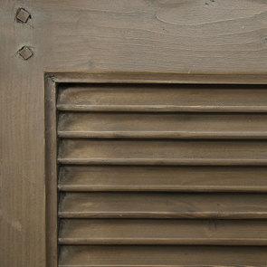 Lit 160x200 cm en épicéa massif brun fumé grisé - Vénitiennes - Visuel n°8
