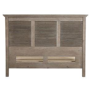Lit 160x200 cm en épicéa massif brun fumé grisé – Vénitiennes - Visuel n°9