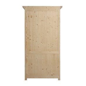 Armoire penderie blanche 2 portes en épicéa massif - Vénitiennes - Visuel n°5