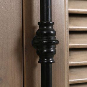 Armoire penderie noire 2 portes en épicéa massif brun fumé - Vénitiennes - Visuel n°13