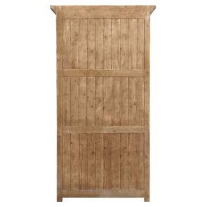 Armoire penderie noire 2 portes en épicéa massif brun fumé - Vénitiennes - Visuel n°8