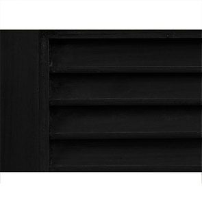 Armoire penderie noire 2 portes en épicéa massif - Vénitiennes - Visuel n°6