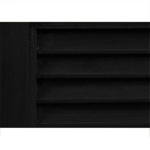 Buffet bas noir 4 portes 4 tiroirs en épicéa - Vénitiennes - Visuel n°4