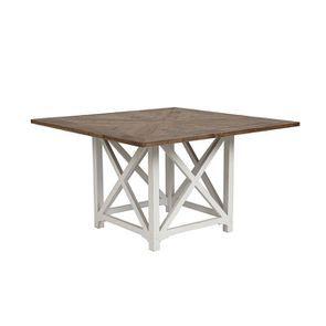 Table carrée blanche en épicéa 8 personnes - Vénitiennes - Visuel n°3