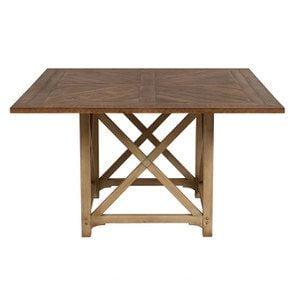Table carrée en épicéa massif 6 à 8 personnes - Vénitiennes