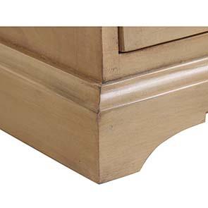 Table de chevet en épicéa massif 3 tiroirs - Vénitiennes - Visuel n°4