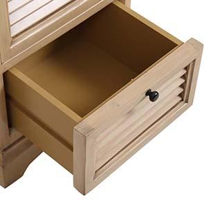 Table de chevet en épicéa massif 3 tiroirs - Vénitiennes - Visuel n°7