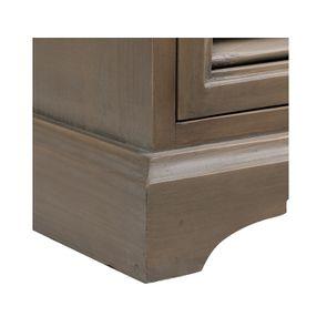 Table de chevet brun fumé grisé 3 tiroirs en épicéa - Vénitiennes