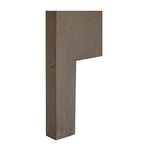 Tête de lit 180 en épicéa massif brun fumé grisé - Vénitiennes - Visuel n°3