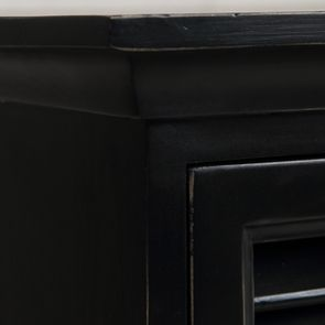 Commode chiffonnier 6 tiroirs noire en épicéa - Vénitiennes - Visuel n°8