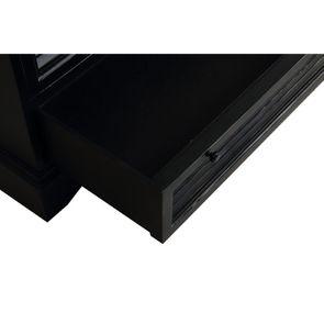 Commode chiffonnier 6 tiroirs noire en épicéa - Vénitiennes - Visuel n°9