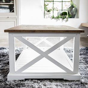 Table basse rectangulaire blanche en épicéa massif - Vénitiennes - Visuel n°4