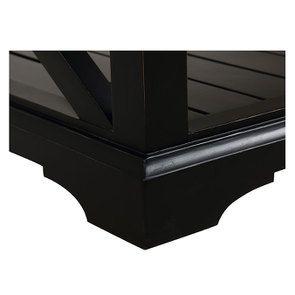 Table basse rectangulaire noire - Vénitiennes