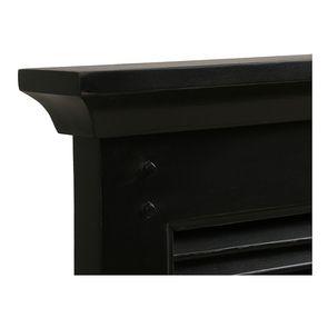 Lit 180x200 en épicéa massif noir vieilli - Vénitiennes - Visuel n°8