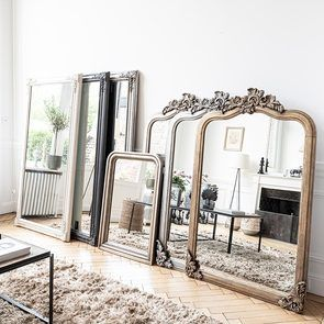 Grand miroir argenté - Les Miroirs d'Interior's