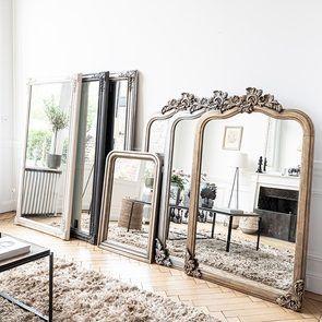 Grand miroir noir - Les Miroirs d'Interior's