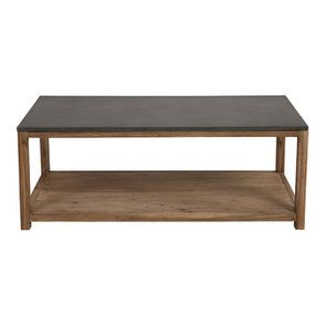 Table basse contemporaine en acacia et béton - Graphite