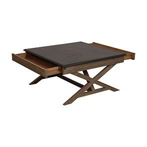 Table basse carrée contemporaine en acacia - Horizon - Visuel n°5