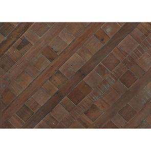 Bout de canapé industriel en bois recyclé et métal - Loft - Visuel n°3