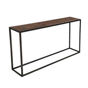 Console industrielle en bois recyclé et métal - Loft - Visuel n°3