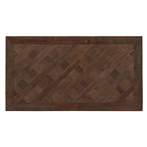 Table basse rectangulaire industrielle en bois recyclé - Loft - Visuel n°4