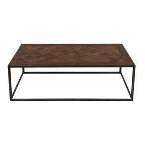 Table basse rectangulaire industrielle en bois recyclé - Loft