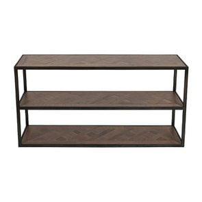 Console industrielle 3 plateaux en bois recyclé - Loft