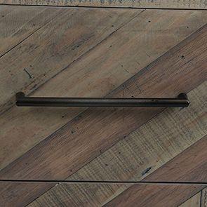 Commode industrielle 3 tiroirs en bois recyclé naturel grisé - Empreintes - Visuel n°6