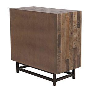 Commode industrielle 3 tiroirs en bois recyclé naturel grisé - Empreintes - Visuel n°10