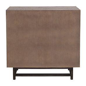 Commode industrielle 3 tiroirs en bois recyclé naturel grisé - Empreintes - Visuel n°11