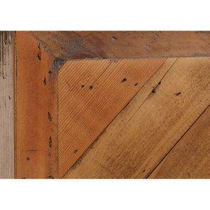 Lit industriel 140x190 en bois recyclé - Empreintes - Visuel n°4