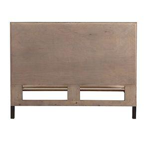 Lit industriel 140x190 en bois recyclé naturel grisé - Empreintes - Visuel n°7