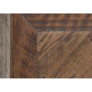 Table basse ovale industrielle en bois recyclé et métal - Empreintes - Visuel n°4
