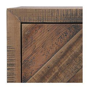 Table de chevet industrielle en bois recyclé naturel grisé - Empreintes - Visuel n°3