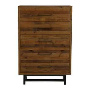 Commode semainier industrielle en bois recyclé - Empreintes
