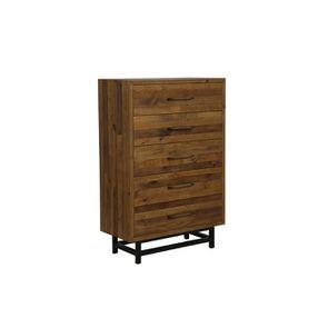 Commode chiffonnier industrielle en bois recyclé - Empreintes - Visuel n°5