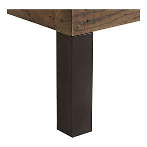 Lit enfant industriel 90x190 en bois recyclé naturel grisé - Empreintes - Visuel n°6