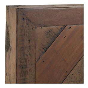 Lit enfant industriel 90x190 en bois recyclé naturel grisé - Empreintes - Visuel n°7