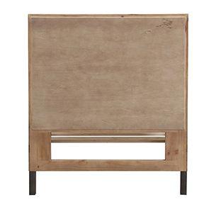 Lit enfant industriel 90x190 en bois recyclé naturel grisé - Empreintes - Visuel n°4