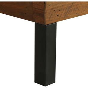 Lit industriel 160x200 en bois recyclé - Empreintes - Visuel n°9