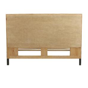 Lit industriel 160x200 en bois recyclé - Empreintes - Visuel n°5