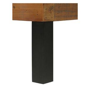 Lit industriel 180x200 en bois recyclé - Empreintes