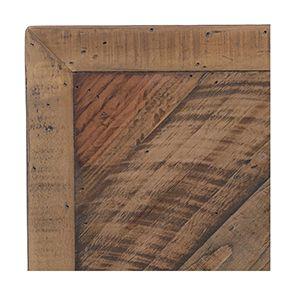 Lit industriel 180x200 en bois recyclé naturel grisé - Empreintes - Visuel n°3