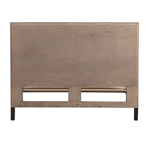 Lit industriel 180x200 en bois recyclé naturel grisé - Empreintes - Visuel n°7
