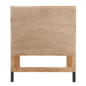 Tête de lit 90 industrielle en bois recyclé ambré - Empreintes - Visuel n°4