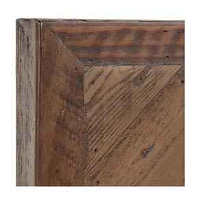 Tête de lit 90 industrielle en bois recyclé - Empreintes - Visuel n°2
